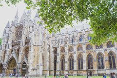 Detalj av den Westminster abbotskloster i London stadsmitt Arkivfoto
