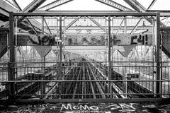 Detalj av den Wiliamsburg bron, NY Fotografering för Bildbyråer