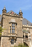 Detalj av det Aachen stadshuset, Tyskland Arkivbilder