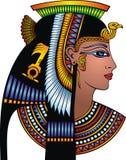 Detalj av det cleopatra huvudet stock illustrationer