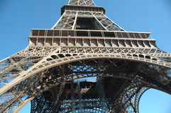 Detalj av det Eiffel tornet, Paris arkivfoto