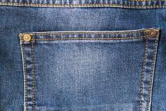 Detalj av det fick- slutet för jeans upp Fotografering för Bildbyråer