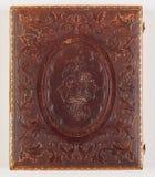 Detalj av det historiska Daguerreotypefallet Arkivfoto