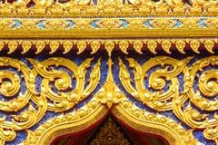 Detalj av det ornately dekorerade tempeltaket Royaltyfri Fotografi