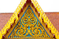 Detalj av det ornately dekorerade tempeltaket Royaltyfri Foto