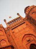 Detalj av det röda fortet i Delhi Indien arkivbild