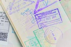 Detalj av det thailändska passet Royaltyfria Foton