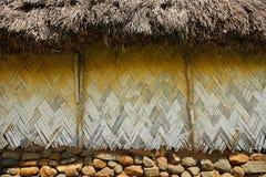 Detalj av det traditionella huset av den Navala byn, Viti Levu, Fiji fotografering för bildbyråer