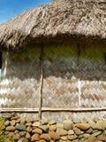 Detalj av det traditionella huset av den Navala byn, Viti Levu, Fiji arkivbild