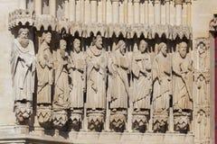Detalj av domkyrkan av Amiens arkivfoton