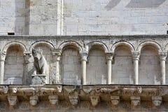 Detalj av domkyrkan av San Rufino i Assisi, Umbria royaltyfria bilder