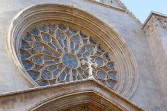 Detalj av domkyrkan av Tarragona, Spanien Arkivbild