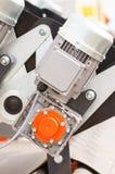 Detalj av elmotorn, del av elektriskt maskineri, teknologibegrepp Arkivfoton