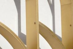 Detalj av en Allen skruv i en metallstruktur Royaltyfri Bild