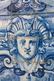 Detalj av en Azulejo i Coimbra arkivfoton