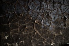Detalj av en bränd ned vägg Royaltyfri Bild