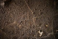 Detalj av en bränd ned vägg Arkivfoton