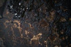 Detalj av en bränd ned vägg Royaltyfri Foto