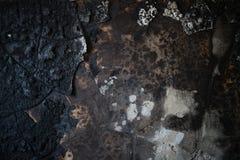 Detalj av en bränd ned vägg Arkivbild