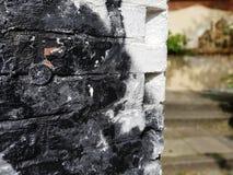 detalj av en brickwall, fokus på förgrund Royaltyfria Bilder