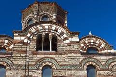 Detalj av en bysantinsk kyrka Arkivbild
