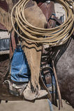 Detalj av en cowboy på arbete Royaltyfri Foto