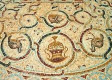 Detalj av en forntida färgrik mosaik Royaltyfria Bilder