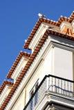 Detalj av en gammal byggnad på Lisbon Arkivbilder