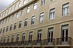 Detalj av en gammal byggnad på Lisbon, Portugal Arkivfoto