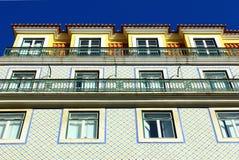 Detalj av en gammal byggnad på Lisbon, Portugal Royaltyfria Foton