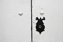 Detalj av en gammal medelhavs- dörr Royaltyfri Foto