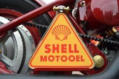 Detalj av en gammal motorcykel Royaltyfri Fotografi