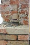 Detalj av en gammal tegelstenvägg royaltyfri bild