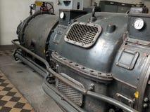 Detalj av en gammal turboladdaregenerator Fotografering för Bildbyråer