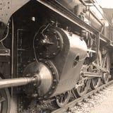 Detalj av en gammalmodig ångalokomotiv Royaltyfri Foto