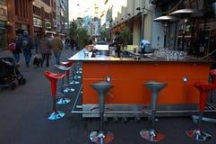 Detalj av en gata basel under månaden av December Fotografering för Bildbyråer