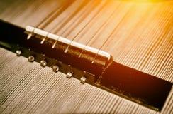 Detalj av en gitarr Royaltyfria Foton