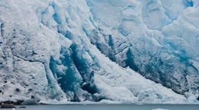 Detalj av en glaciär av Peritoen Moreno Glacier arenaceous Landskap Fotografering för Bildbyråer