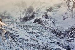Detalj av en glaciär Fotografering för Bildbyråer
