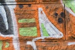 Detalj av en grafittikonst på en vägg Royaltyfri Bild