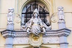 Detalj av en historisk byggnad i Aachen Royaltyfria Foton