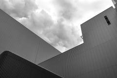 Detalj av en industriell arkitektur arkivfoto