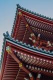 Detalj av en japansk buddistisk tempel, Tokyo Arkivbild