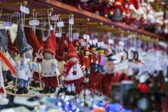 Detalj av en julmarknadsställning Arkivfoto