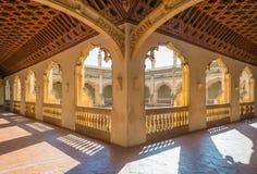 Detalj av en kyrka i Toledo arkivfoton