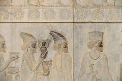 Detalj av en lättnad, Iran royaltyfria foton