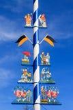 Detalj av en majstång i Munich Royaltyfri Fotografi