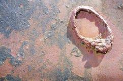 detalj av en metallvägg Royaltyfri Fotografi