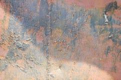 detalj av en metallvägg Arkivbild