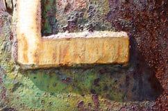detalj av en metallvägg Arkivbilder